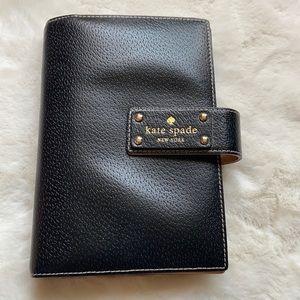 Kate Spade black leather planner